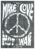 Naszywka MAKE LOVE NOT WAR jeans