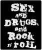 Naszywka Sex Drugs Rock\'n\'Roll
